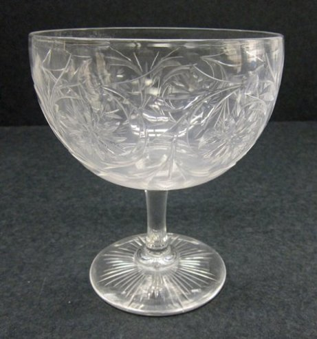 Original image. The majority of the American cut and engraved collection only has this type of photography. Grapefruit Bowl, C. Dorflinger & Sons, White Mills, PA, 1920. Gift of Mr. and Mrs. Kenneth Lyon. 88.4.44.