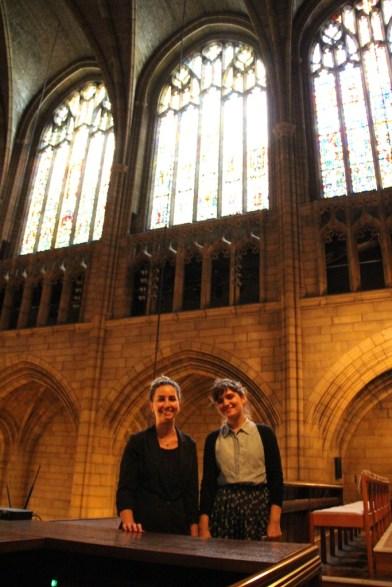 Natasa and Nicole at St. Thomas.