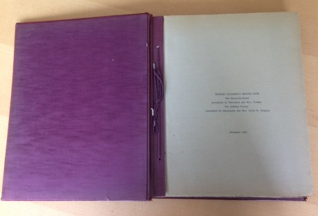 Scrapbook in the Rakow Research Library