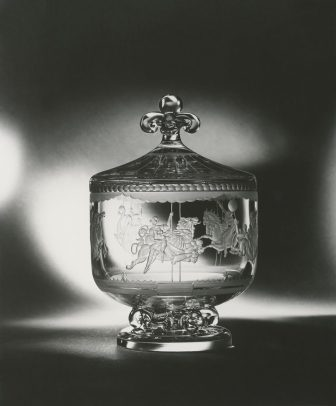 Steuben crystal Merry-Go-Round bowl designed by Sidney Waugh