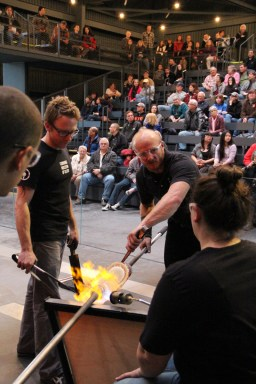 CMoG team in the Amphitheater Hot Shop
