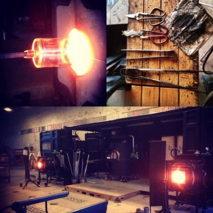 The GlassLab studio, tools, and gloryhole.