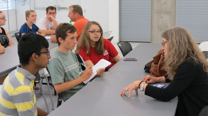 Members of the TLC meet with Museum staff to learn about their work.