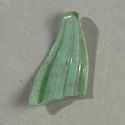 Glass sample before it is embedded in resi