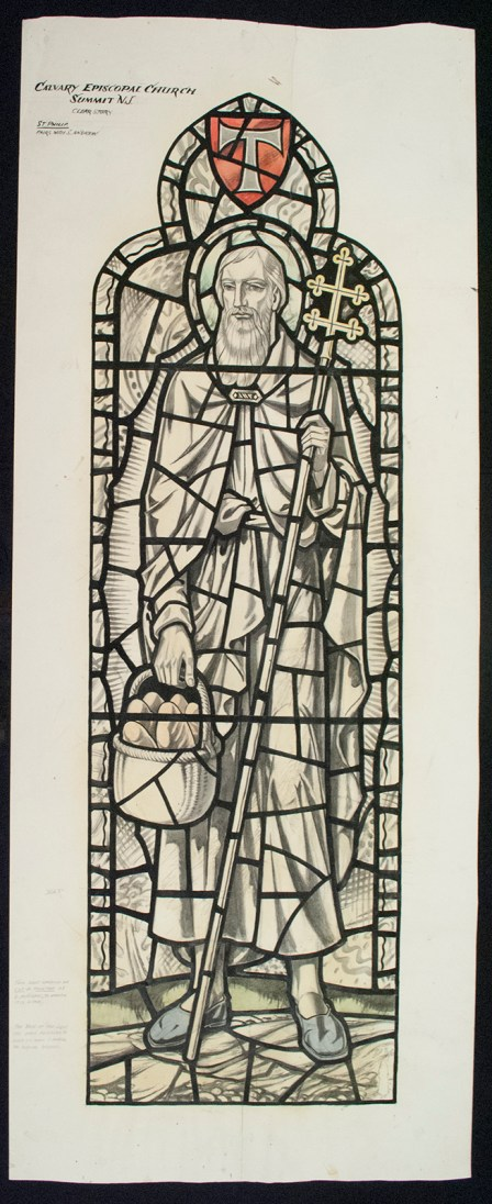 Wove paper cartoon for Calvary Episcopal Church, New Jersey, USA, BIB#147836.