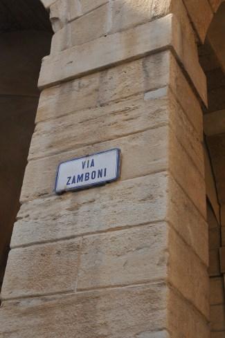 Via Zamboni in Bologna
