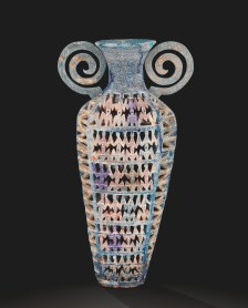 Grecian Urn (2006.4.150): The surface of Pâte de Verre pieces like this one by Karla Trinkley are often rough and pitted.