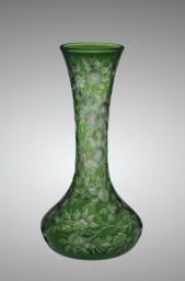 Green Rock Crystal Engraved Vase, C. Dorflinger & Sons (manufacturer), Walter Graham (engraver), about 1903, White Mills, Pa., 2010.4.14.