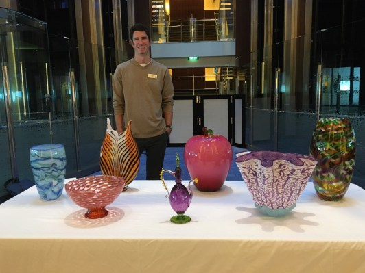 Glass works auctioned off on Celebrity Equinox.