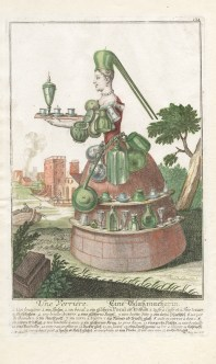 Engraving of a glassmaker