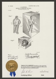 Patent for preserving the dead in glass
