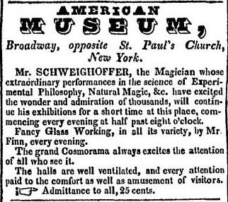 American Museum advertisement
