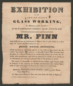 Advertisement for Boston exhibition