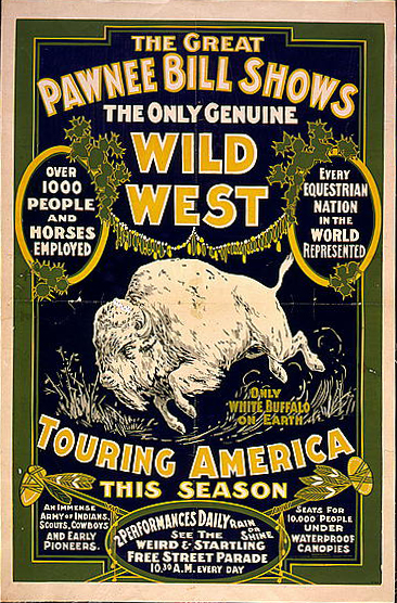 Poster advertising Pawnee Bill's Wild West show (1903).