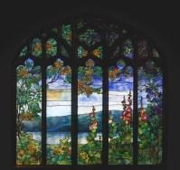 Window with Hudson River Landscape pre-conservation.