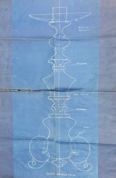 Candlestick blueprint before treatment.