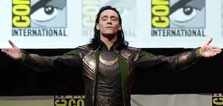 Tom Hiddleston Gloating as Loki