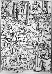 16th century image of witch punishments