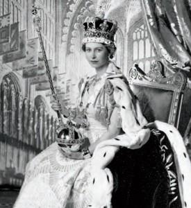 To be fair, she's really always worn big hats.  Coronation, 1953