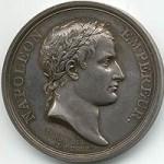 Medalion of Napoleon wearing laurel leaves