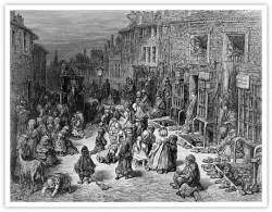19th century slum.