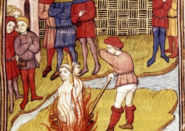 Burning of the Knights Templar
