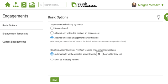 CoachAccountable Engagement Basics
