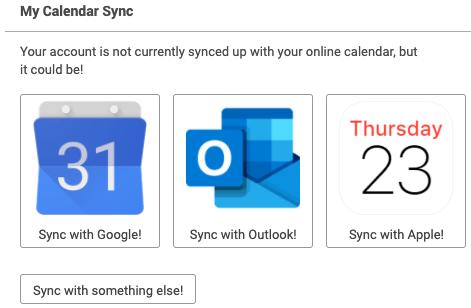 Choose a calendar to sync with CoachAccountable.