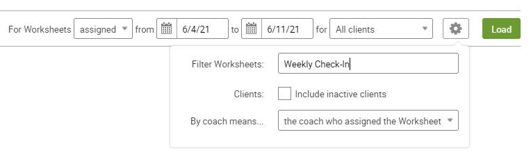 Filter controls for a Follow Through Report
