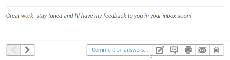 Button to comment on answers