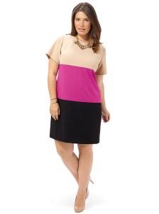 JESSICA HOWARD Short Sleeve Colorblock Sheath Dress