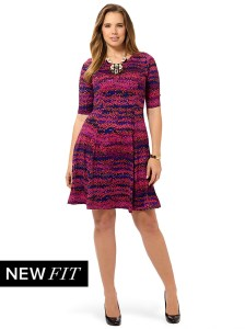 SPRUCE AND SAGE Sunset Charmer Fit and Flare Dress