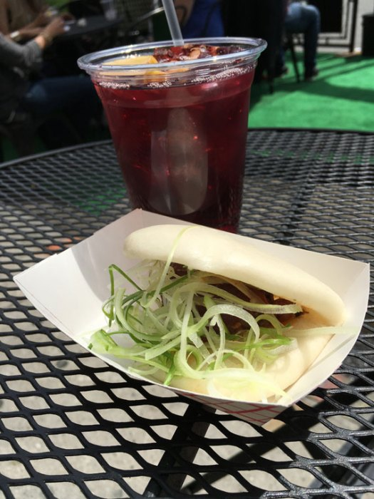 Pork Bun and Sangria from Brickyard in Hell's Kitchen