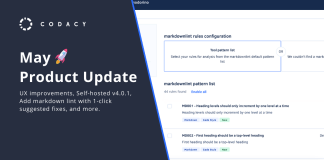 May codacy product update