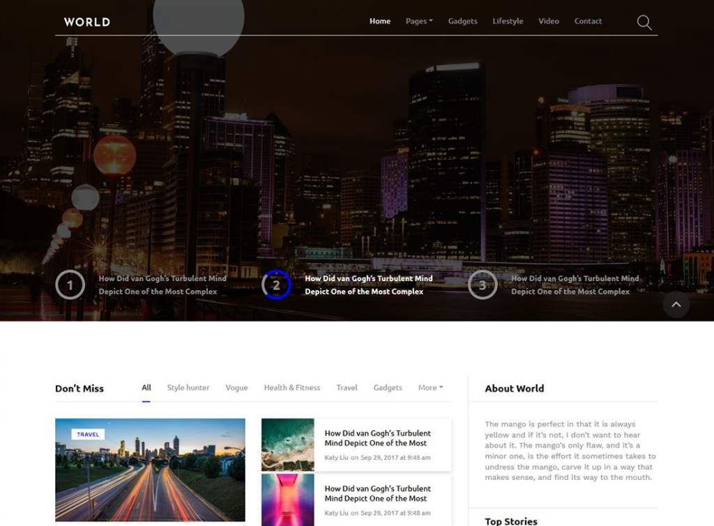 Bootstrap Blog Templates