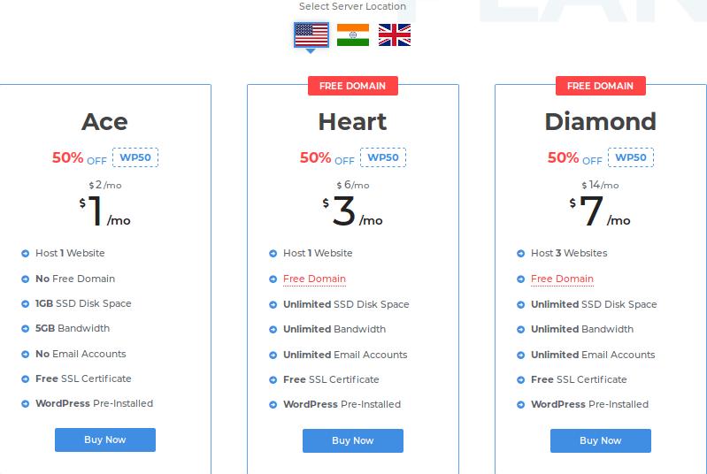 Pricing table - milesweb.com