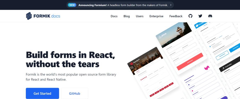 formik ReactJS Form library