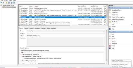 schedule music in windows 10