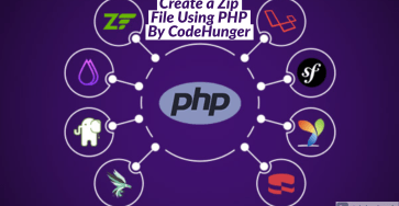 create a zip file using php