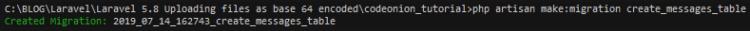 Creating migration files in Laravel