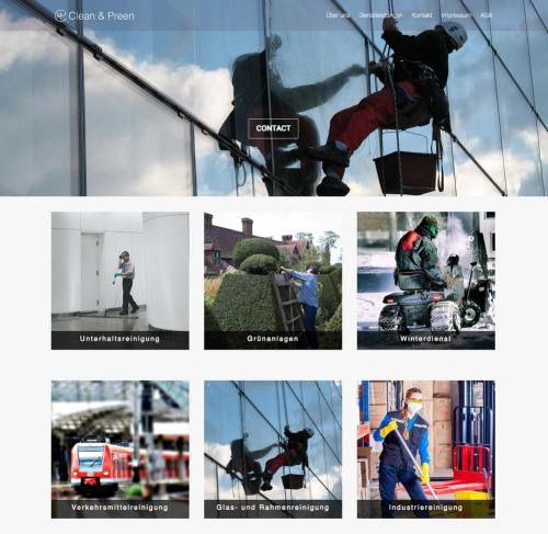 Design Concept Clean & Preen Website