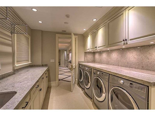 We've heard of double ovens, but double laundry?  This is a phenomenal solution for a large family of hockey players.  This Miami Beach home is listed by Jill Hertzberg with Coldwell Banker Residential Real Estate.
