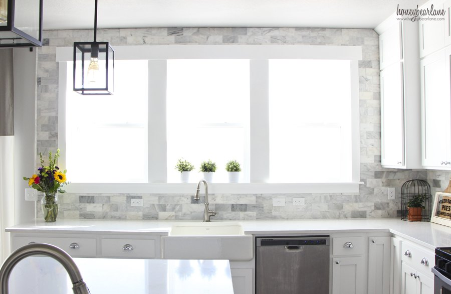 DIY Marble Backsplash