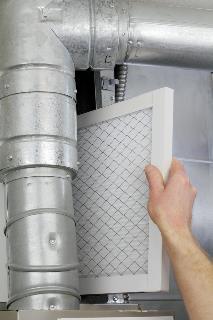 Replacing a furnace filter