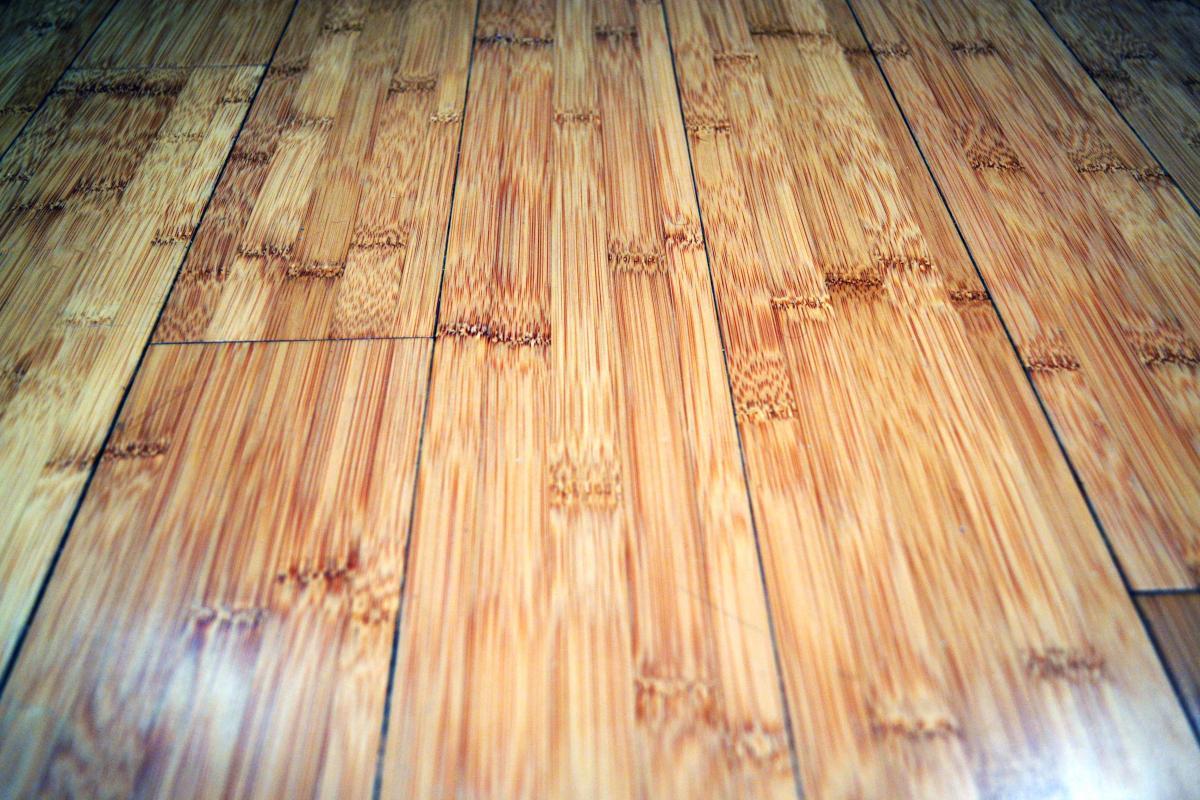 Closeup of Bamboo floor