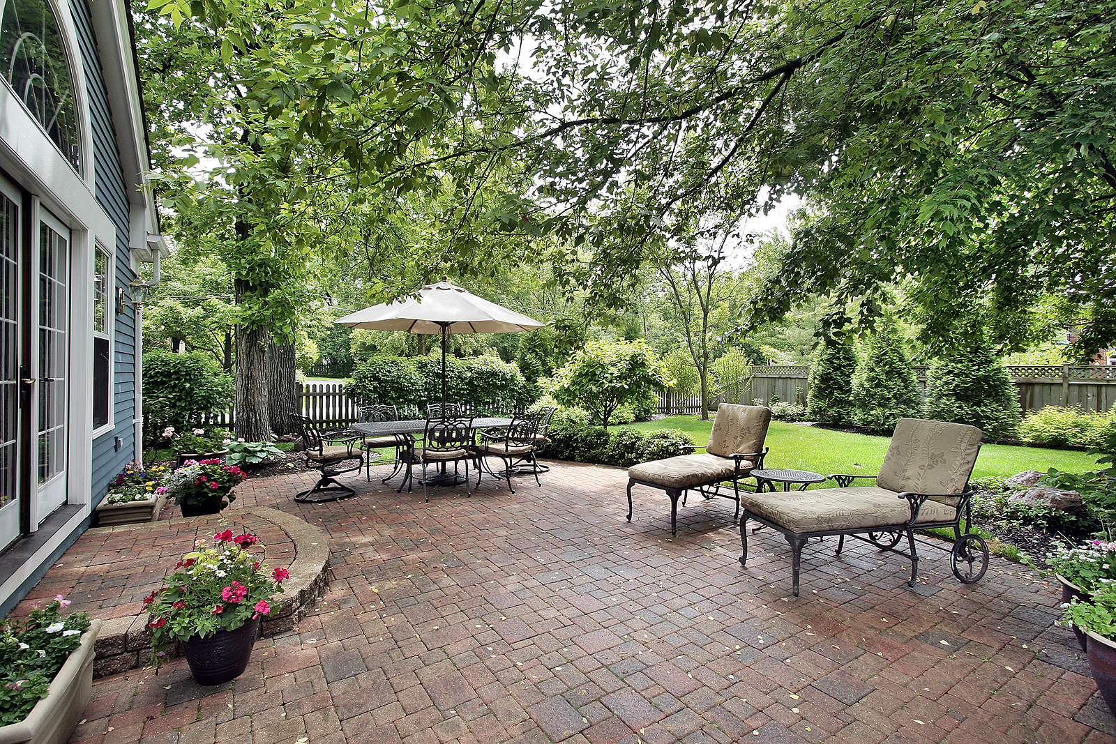 8 Summer Projects for the Ultimate Backyard | Dallas Fort ... on Small Backyard Brick Patio Ideas id=44998