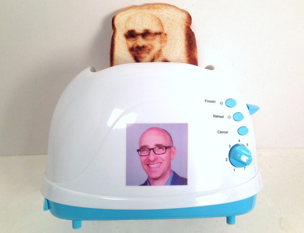 An example of a selfie toaster