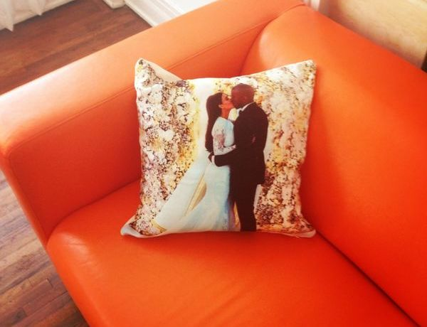 Kimye wedding photo-pillow by Collage.com