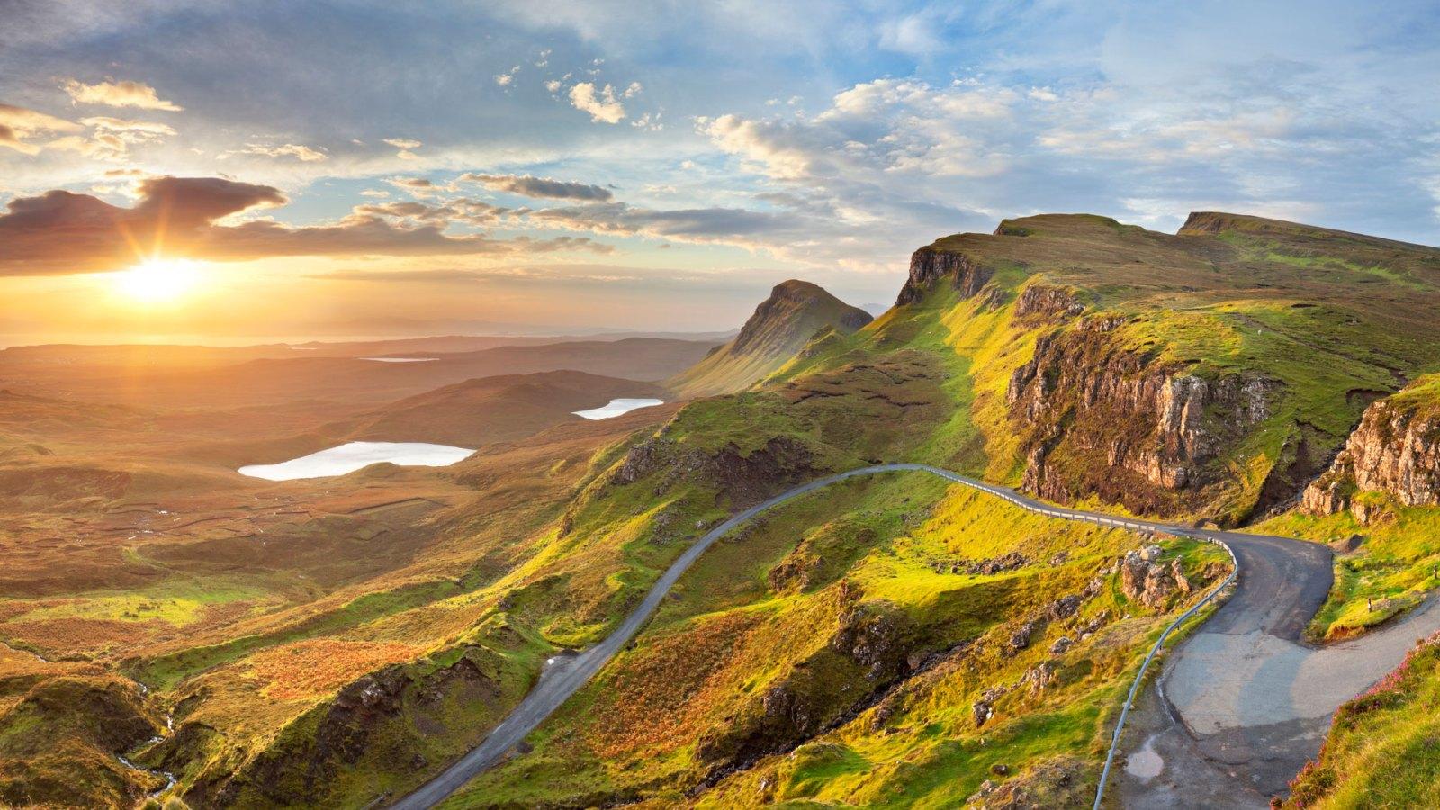 Sunrise at Quiraing Isle of Skye Scotland