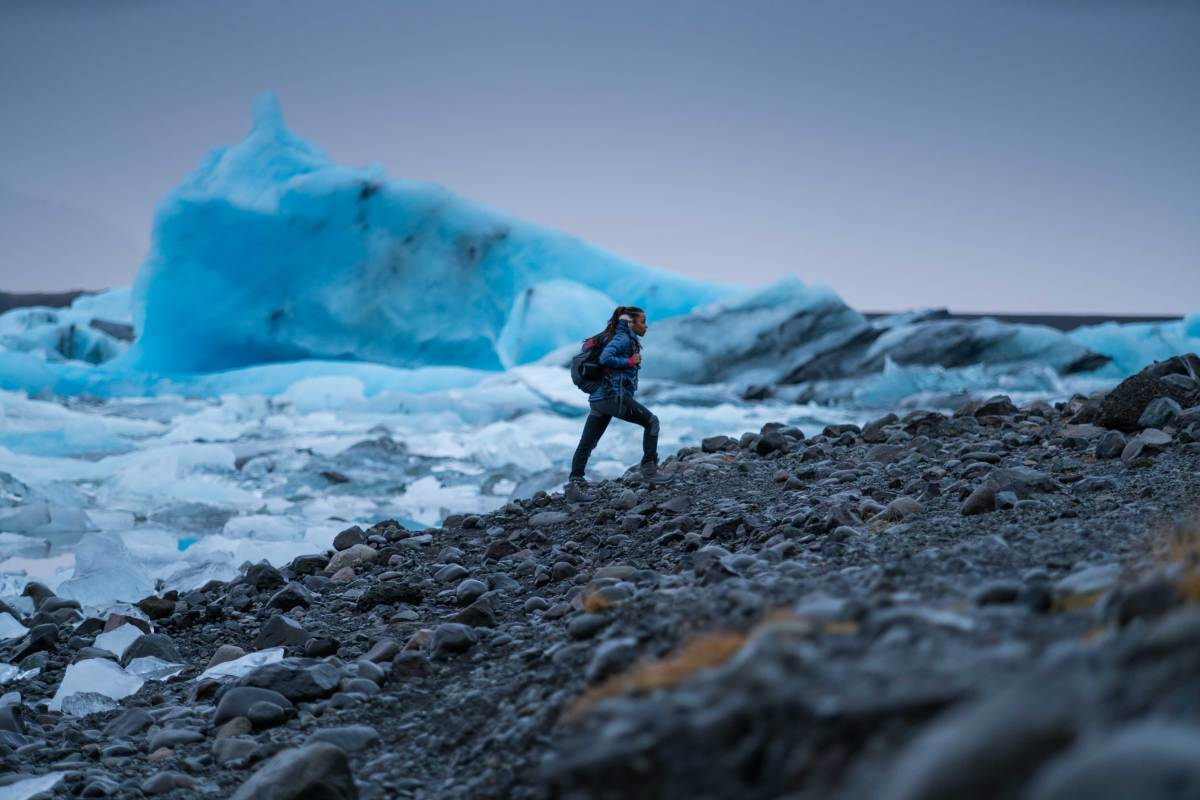 Faith Briggs Iceland hiking
